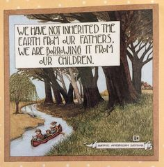 Handmade Fridge Magnet-Mary Engelbreit Artwork-We Have Not Inherited The Earth