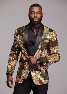 african print dresses Style Bestylish and unique at your next formal event in our Rammy African print blazer jacket! Blazer accommodates heights up to Description: F Cute Blazers, Black Blazers, Mens Fashion Suits, Blazer Fashion, Men's Fashion, Fashion Quotes, Fashion Models, Fashion Outfits, Family Picture Outfits