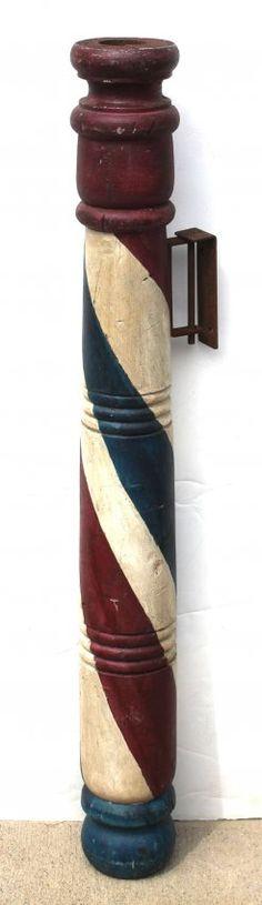wonderful ca 1860 New England pine barber pole trade : Lot 107