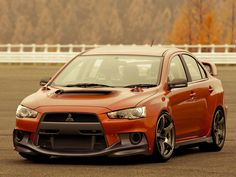 Lancer Evo - its like shes smiling