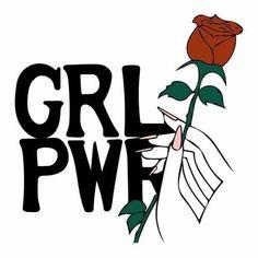 girl power, rose, and feminism image