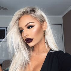 "16.9k Likes, 281 Comments - Brookelle McKenzie (@bybrookelle) on Instagram: ""dark side (this dark lip is me low key wishing it was still winter ) - products used:…"""