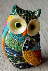 small mosaic owl 1 - The English Owl Company