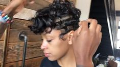 Beautiful pin curls with Influance Hair Care National Educator care videos Pin Curls Styles for Summer 2020 Short Pixie Haircuts, Cute Hairstyles For Short Hair, Short Hair Cuts, Curly Hair Styles, Natural Hair Styles, Pin Curls Short Hair, Black Pixie Haircut, Black Haircut Styles, Curly Pixie Cuts