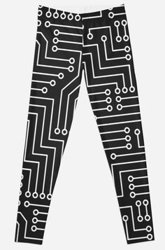 'Electrical Circuit Pattern Electrical Engineer Accessories Gift' Leggings by Bithys Online Awesome Leggings, Best Leggings, Iphone Wallet, Iphone Cases, Electrical Engineering, Artwork Prints, Circuit, Chiffon Tops, Contrast
