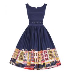 Delta Carnaby Street Swing Dress  50s Inspired Fashion - Lindy Bop