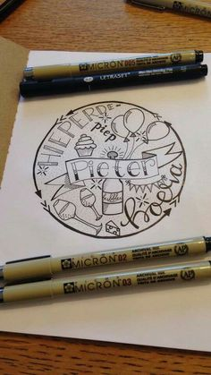 Hoera Hand Lettering Alphabet, Chalk Lettering, Doodle Lettering, Creative Lettering, Doodle Drawing, Diy Postcard, Note Doodles, Birthday Letters, Drawing Quotes
