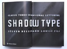 """Title page of """"Shadow Type: Classic Three-Dimensional Lettering"""""""