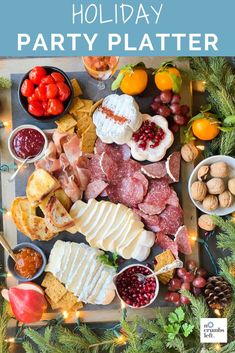 This platter is perfect for your Thanksgiving appetizer! It's great because you can make it whatever size you need for your gathering. And who doesn't love a charcuterie board? Party Platters, Cheese Platters, Fall Recipes, Asian Recipes, Asian Foods, Peppadew Peppers, Mini Grilled Cheeses, Gluten Free Crackers, Best Cheese