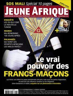 La couverture de Jeune Afrique le 8 Avril 2012