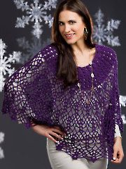 Channeled Cape. Crochet Pattern from Annies Catalog. $5.99