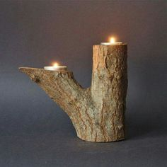 Vintage Tree Branch Natural Wood Double Candle Holder 19 00 via Etsy I pinned this because it s called a vintage tree branch Lol art diy art easy art ideas art painted art projects Vintage Candle Holders, Wood Candle Holders, Natural Candle Holders, Homemade Candle Holders, Natural Candles, Vintage Candles, Candle Stand, Rustic Candles, Diy Candles