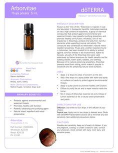 Arborvitae Essential Oils | DoTERRA - insect repellant