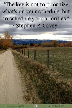 """""""The key is not to prioritize what's on your schedule, but to schedule your priorities."""" - Stephen R. Covey   #MDI"""