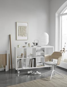 Shelf Styling Inspiration by Sundling Kickén for IKEA (The Design Chaser) Ikea Workspace, Ikea Expedit, Interior Styling, Interior Design, Decorating Your Home, Home Office, Home Furnishings, Home Furniture, Shelves