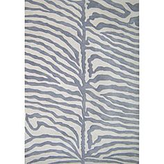I like the grey take on zebra--a little softer, no?  $382 Hand-tufted Safari Grey Wool Rug (8' x 10')