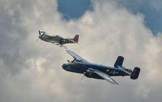 A beautiful formation of a B-25 Mitchell and P-51 Mustang. beautifulwarbirds@gmail.comTwitter: @thomasguettlerBeautiful WarbirdsFull AfterburnerThe Test PilotsP-38 LightningNasa HistoryScience Fiction WorldFantasy Literature & Art