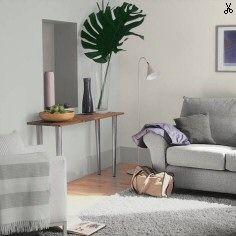wall colour: cornflower white