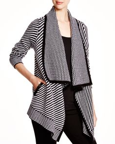 *C by Bloomingdale's Striped Open Cardigan | Bloomingdale's - SMALL $268 (on sale for less until 11/15)