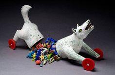 Lisa Muller handbuilt Earthenware clay work