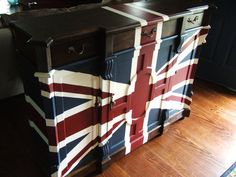 Old English Union Jack Butlers Buffet by Artisan 8 eclectic buffets and sideboards
