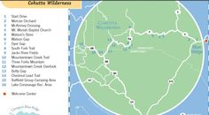 Cohutta Wilderness - Self Guided Tour Map