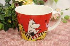 ★Domestic Mumin soup cup zoo series red ★ € 10.42