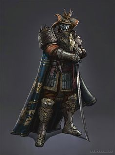 Fantasy Samurai, Samurai Concept, Samurai Warrior, Armor Concept, Fantasy Armor, Fantasy Character Design, Character Concept, Character Art, Kabuto Samurai