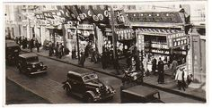 PIN094_Commercial Street in 1930S Shanghai (HosieryShopsign). 老上海街景 Shanghai 1930s
