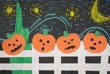 Artsonia Art Exhibit :: Starry Night Pumpkins