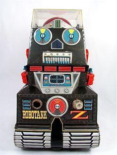 RoboTank-Z Space Robot Tin Litho Battery Operated-Japan