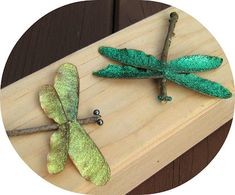 Nature Project for kids: Make Twig Dragon flies