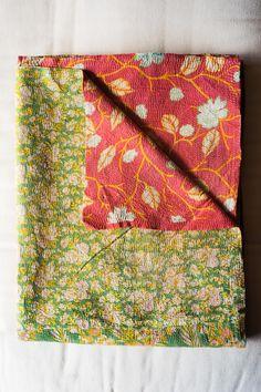 Hand-Stitched Kantha Gudri Throw Blanket 005