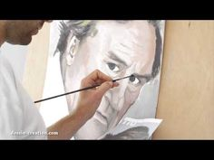 Apprendre à peindre un visage - Gérard Depardieu - YouTube