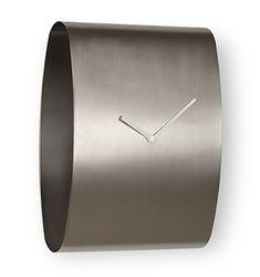 CYINDRICAL MINIMALIST SILVER WALL CLOCK