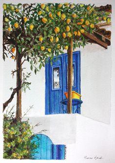Lemon tree art