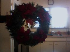 Custom Christmas wreath all wired in to last