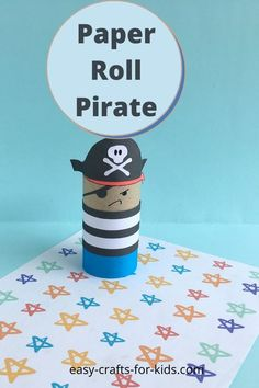 Easy pirate craft for kids with toilet paper rolls Beach Crafts For Kids, Beach Themed Crafts, Ocean Crafts, Art For Kids, Pirate Ship Craft, Pirate Crafts, Pirate Art, Toilet Paper Roll Crafts, Paper Crafts For Kids
