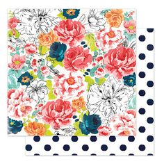 Heidi Swapp - September Skies Collection - 12 x 12 Double Sided Paper - Alpine Rose at Scrapbook.com