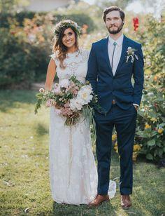 Bohemian California Garden Wedding: Brittany + Andrew