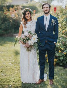 Bohemian California Garden Wedding: Brittany + Andrew
