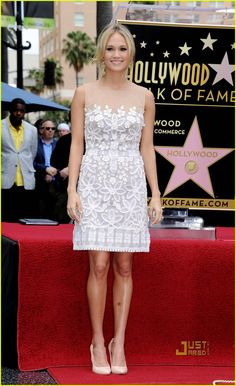Carrie Underwood in Mandalay (2011 Simon Fuller Hollywood Walk Of Fame Ceremony)