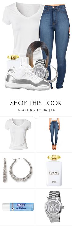 """""""Running Through The 6 With My Woes"""" by babygirlslayy ❤ liked on Polyvore featuring Calvin Klein, Bamboo, Versace, Nivea and Michael Kors"""