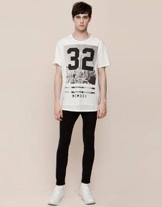 Pull&Bear - hombre - camisetas - camiseta print manga corta - blanco - 09242510-I2015