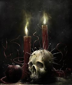 Damien Worm Macabre Art - Obsessed With Skulls