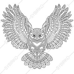 Owl Coloring Page. Adult coloring book page by ColoringPageExpress