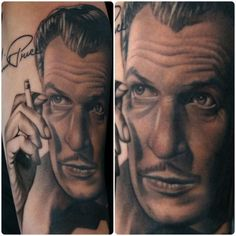 My Vincent Price tattoo-Artist: Aaron Peters at Bugaboo tattoo in Indiana. :) I adore my tattoo and am constantly stopped by people wondering who did it.