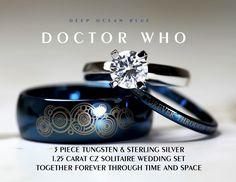 Doctor Who wedding ring set