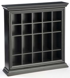 Glass cabinet Crown Moldings - 20 Shot Glass Display Case for Tabletop or Wall, Crown Molding, Open Face Mahogany.