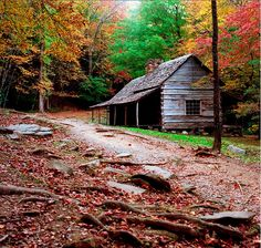 Historic cabin in the Great Smoky Mountains!